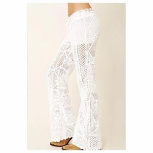 NWOT!! Blu Moon Crochet Pants with Shorts Insert